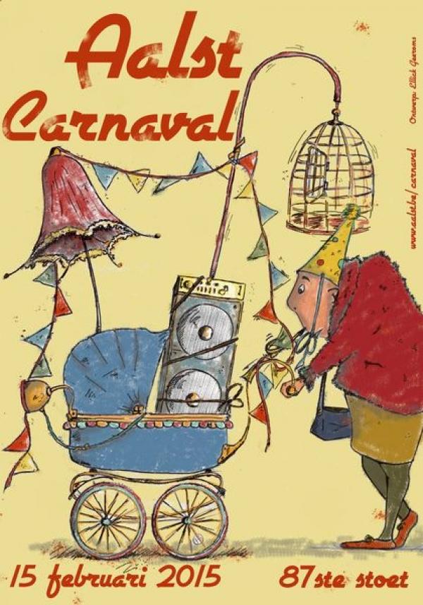aalst carnaval affiche 2015