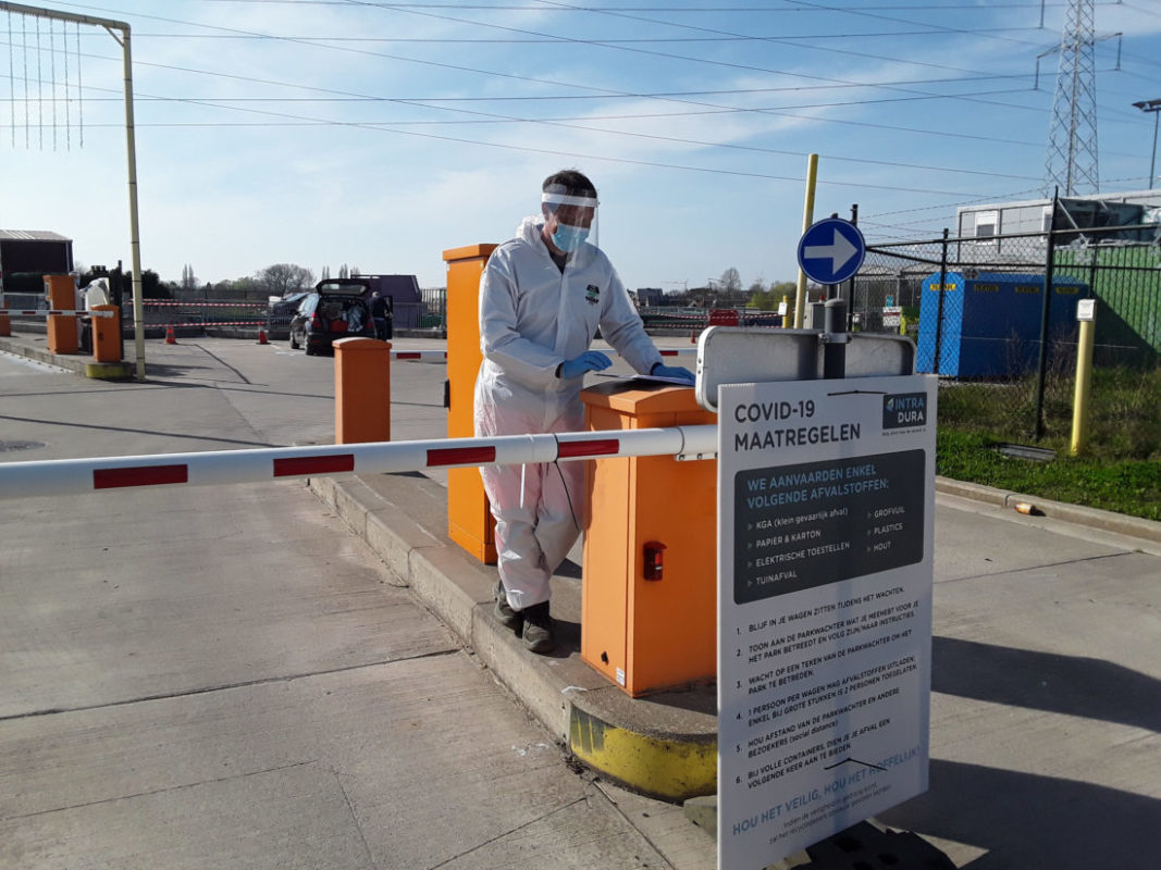 Vlotte toegang tot recyclagepark