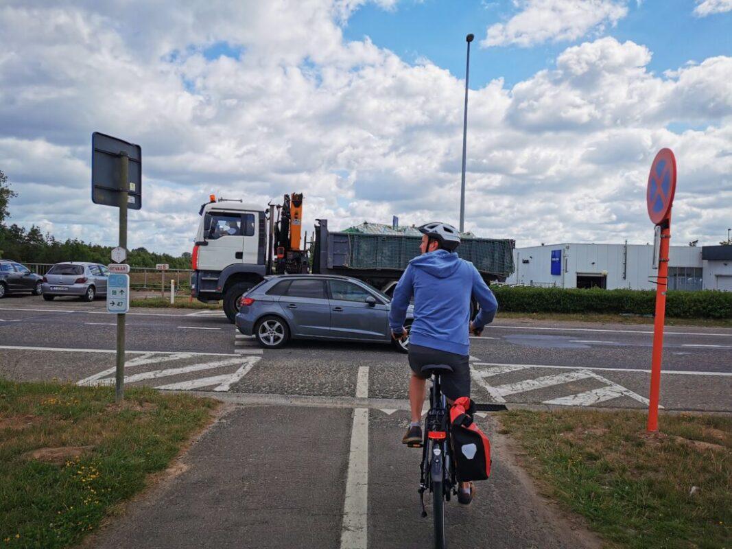 Oversteek Woluwelaan wordt veiliger voor fietsers
