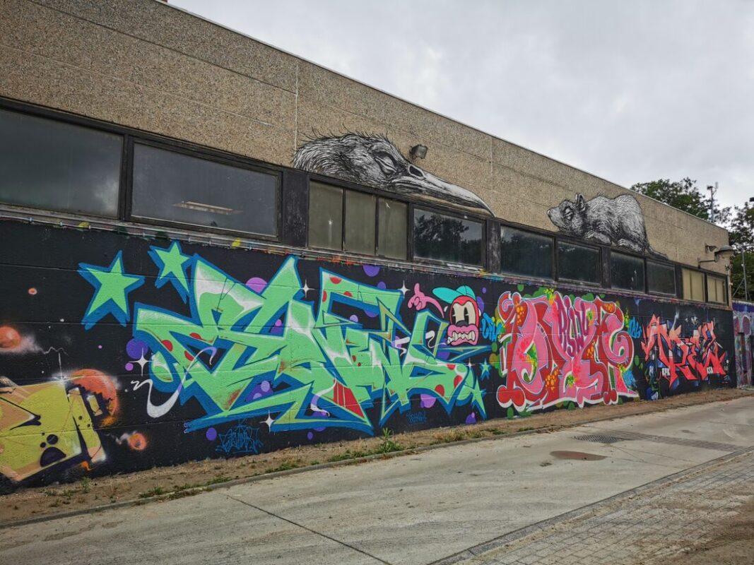 Graffitikunstwerk ter ere van George Floyd helemaal overschilderd