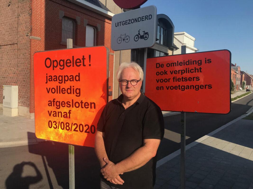 Herstellingswerken aan jaagpad op Oostvaardijk