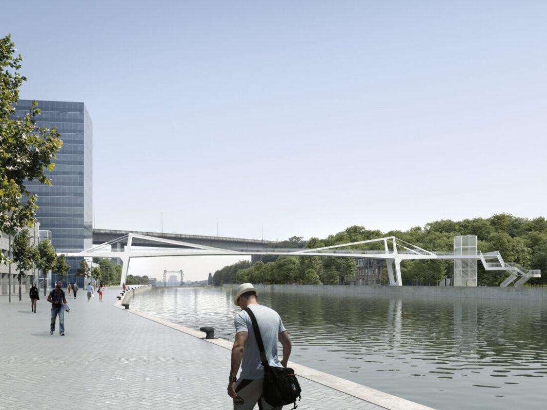Bouw fiets- en voetgangersbrug over kanaal start maandag