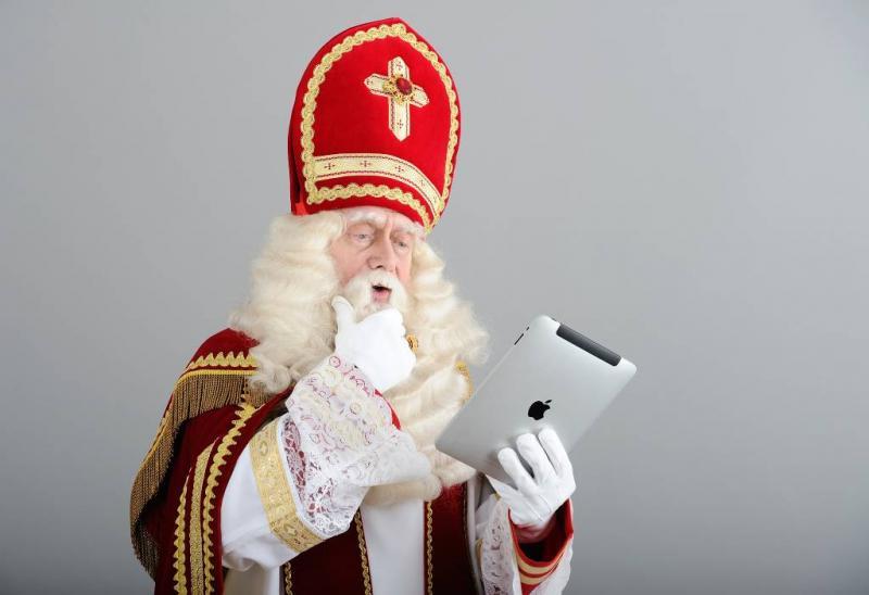 Ook Sinterklaas gaat digitaal