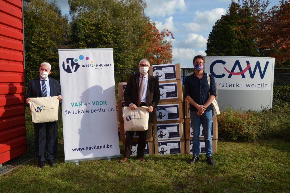 CAW Halle-Vilvoorde dankt Haviland voor schenking van 9.000 mondmaskers
