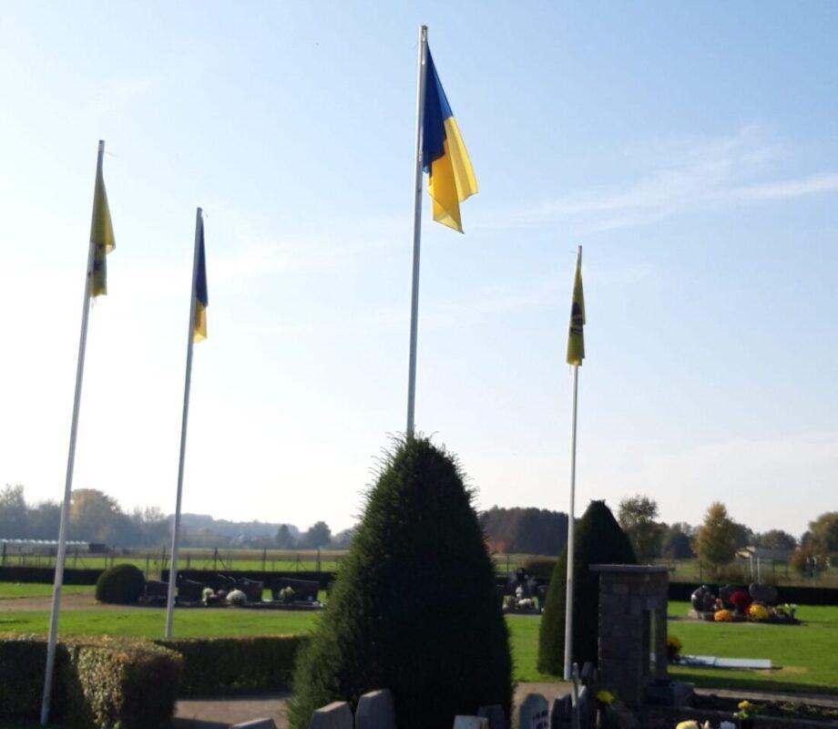 Geen Belgische vlag in Droeshout