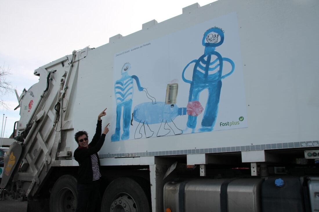 Lokale kunstwerkjes sieren ophaalwagens Incovo