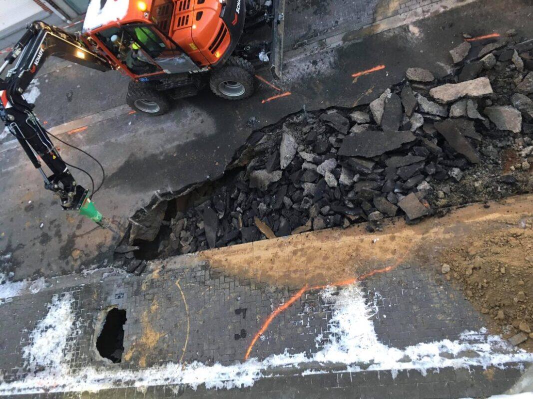 Waterlek zorgde voor problemen in Frans Thirrystraat in Zellik
