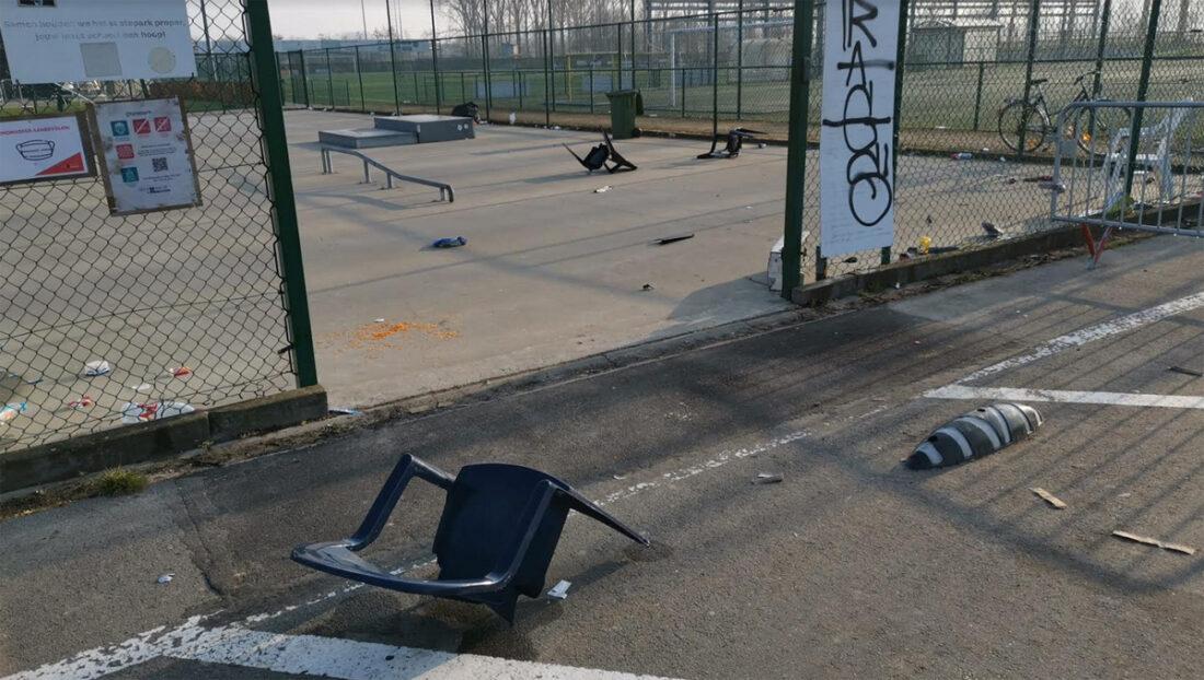 Merchtems skatepark gesloten na vandalisme