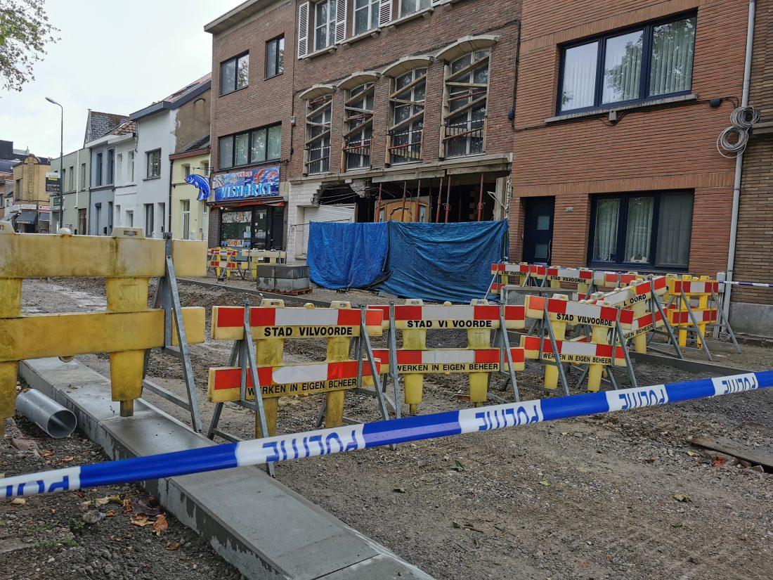 Werken op Rooseveltlaan stilgelegd nadat woning in renovatie dreigt in te storten
