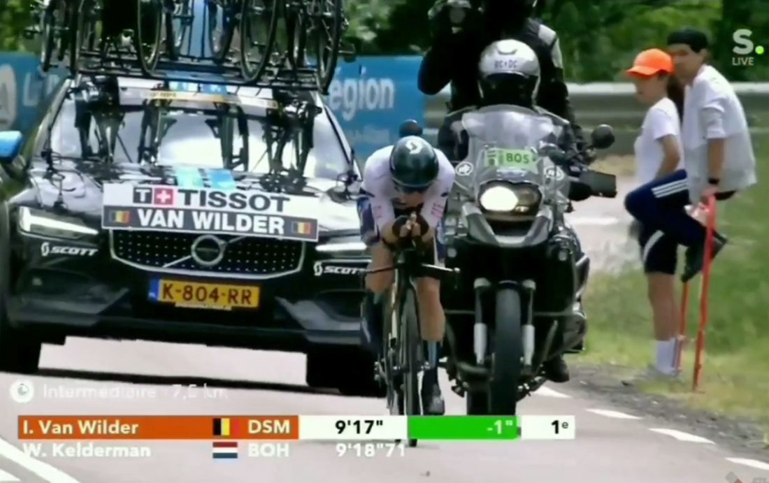 Ilan Van Wilder blijft vooraan in Dauphiné