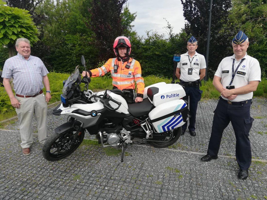 Nieuwe motorfiets voor politie Grimbergen