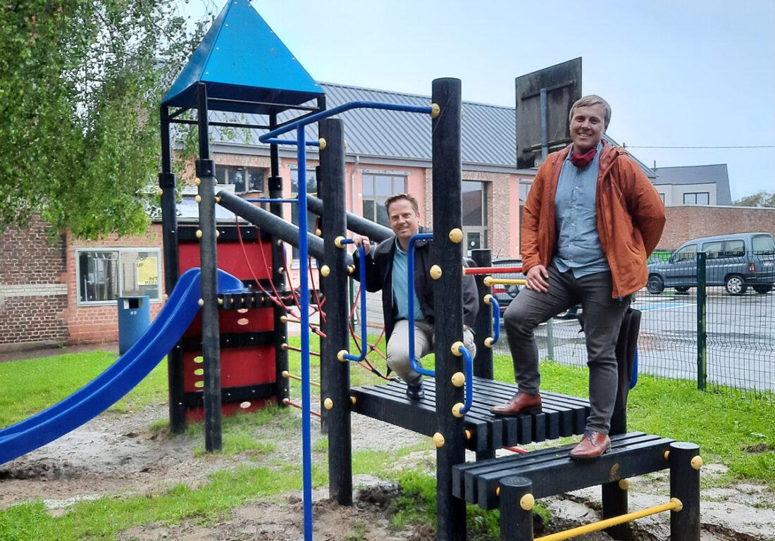 Speelplein in Hamme vernieuwd