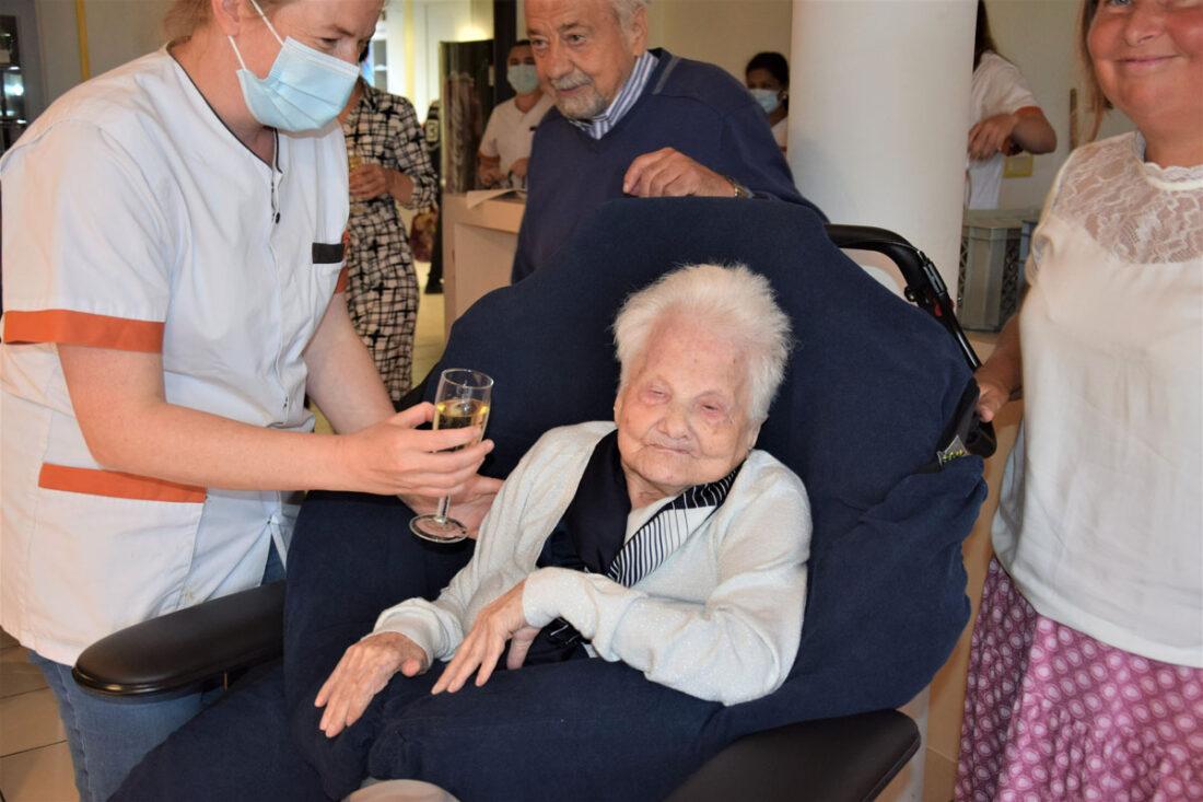 Francine Saerens werd 104