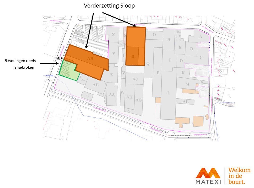 Verdere sloop van gebouwen Stillemanssite in Zellik worden versneld doorgevoerd. Krakers worden met juridische procedure uitgezet.